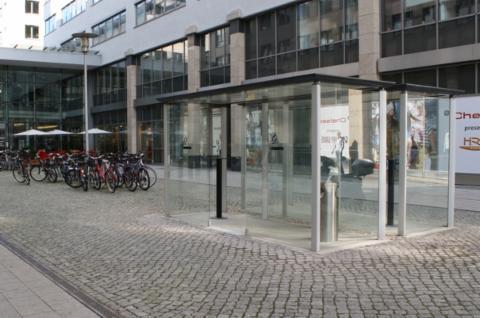 Raucherkabine 2 x R10 für Einkaufszentrum City Carré Magdeburg