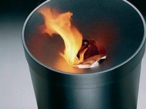 Abfallbehälter TRIA - wahlweise mit/ohne Aschereinsatz